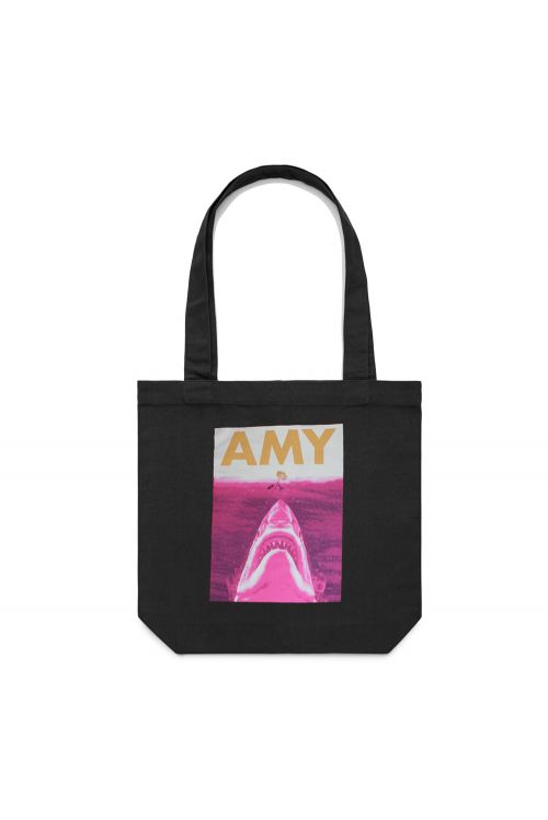 Jaws Tote Bag Black by Amy Shark