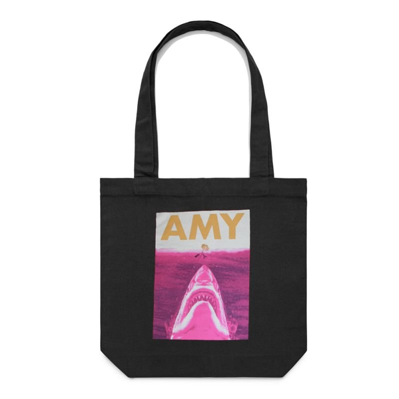 Jaws Tote Bag Black